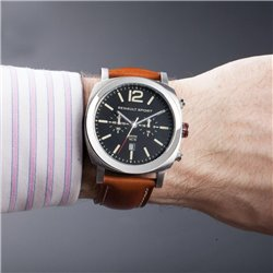MONTRE HOMME CHRONO CUIR RS